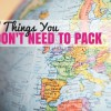 Ways to Lighten Your Packing Bags