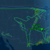 Boeing Took Out a 787 Last Night and Drew a 787 in the Sky Over the Middle of the U.S.