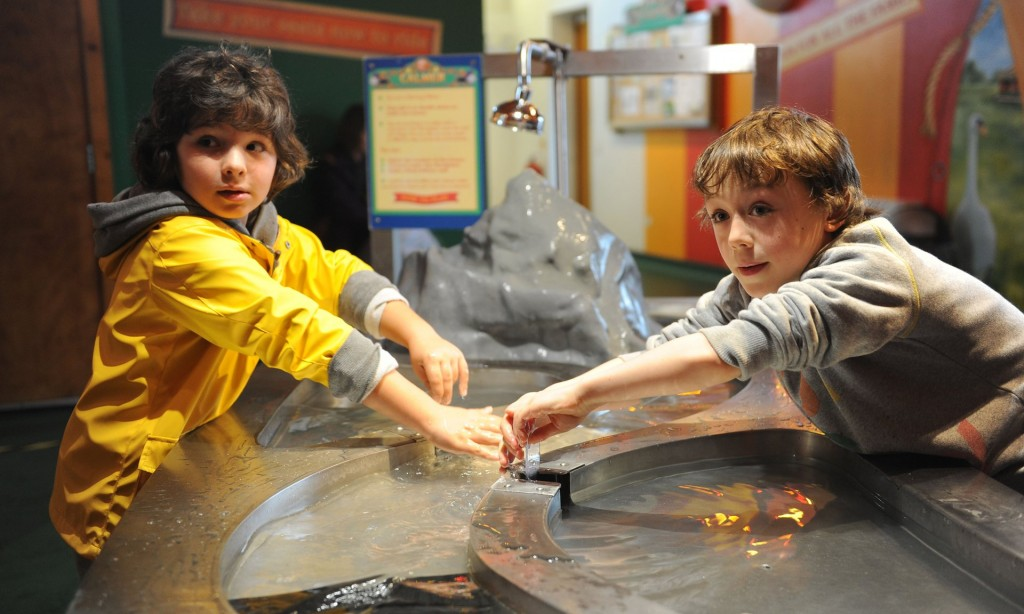 Two boys in the discovery centre