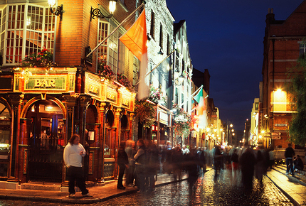 Dublin's Temple Bar district