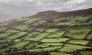 Crug Hywel, above the village of Llanbedr near Crickhowell, Powys, Wales, UK.