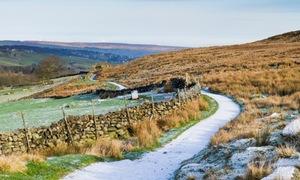 The path to Brontë waterfall, near Haworth, Bradford, Yorkshire.
