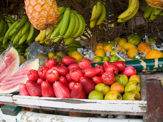Tropical fruits from the Caribbean