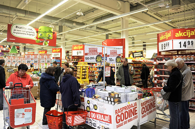 Shopping destinations in Croatia