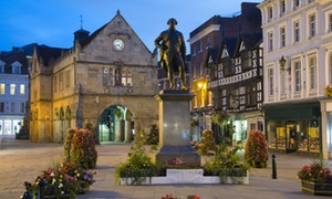 The Old Market Hall and Robert Clive statue, The Square, Shrewsbury, Shropshire, England