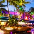 Colourful nightlife of Miami Beach