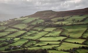 Crug Hywel, above the village of Llanbedr near Crickhowell, Powys, Wales, UK.