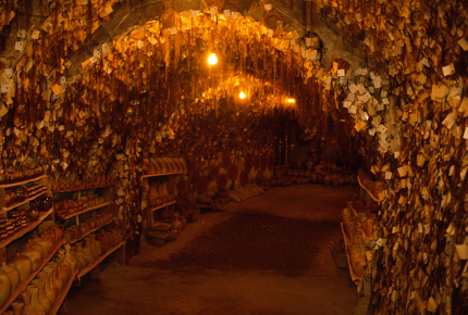 A cave filled with women's hair clippings